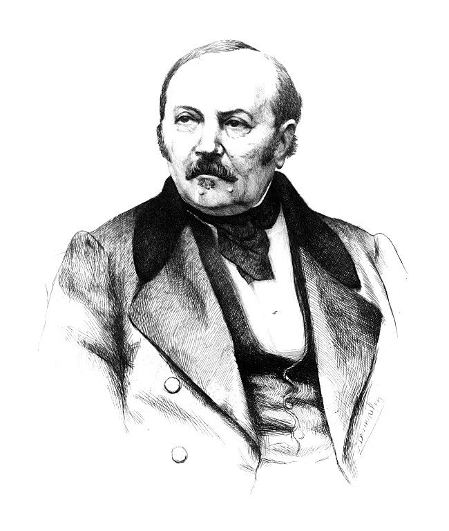 Portrait de Allan Kardec, codificateur de la Doctrine Spirite.