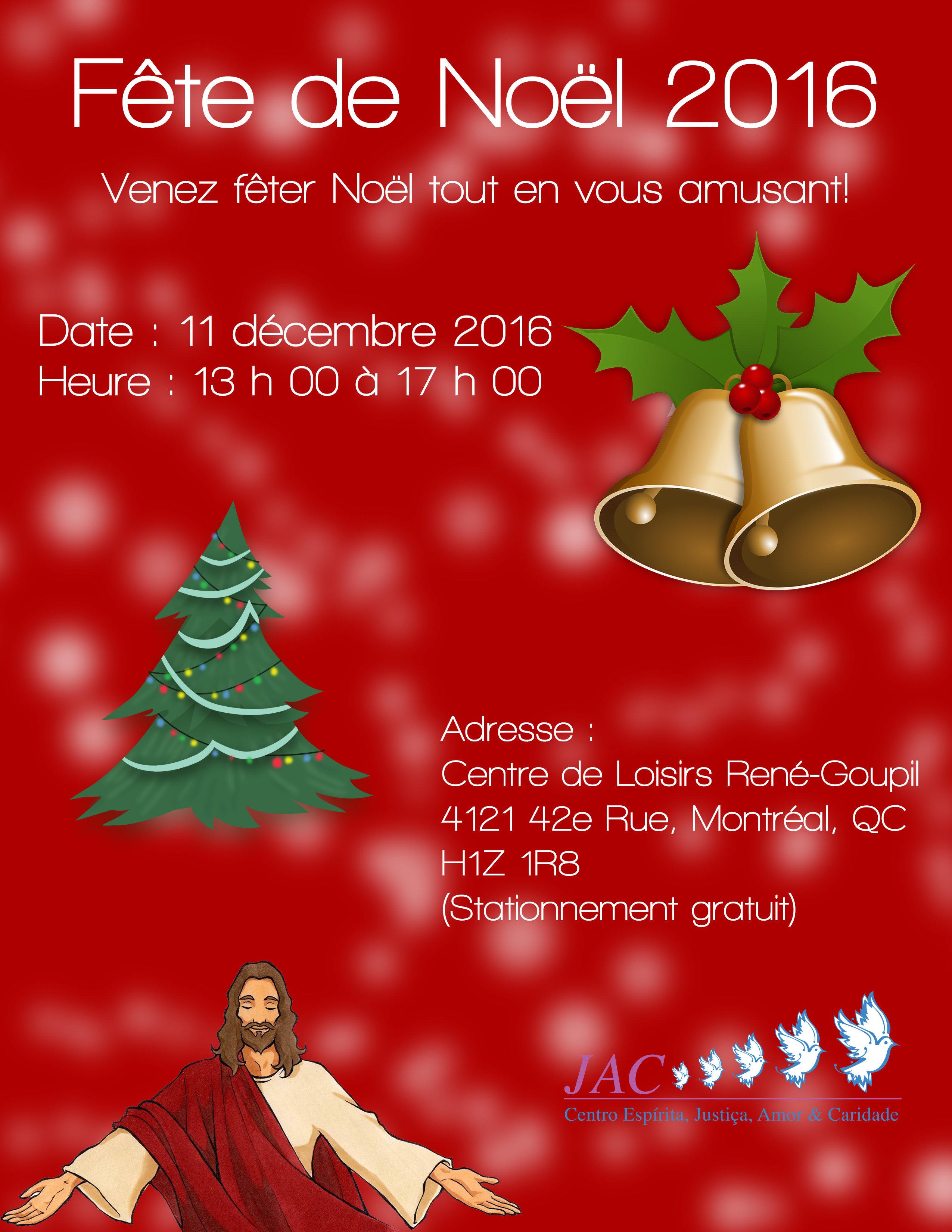 Centre Spirite JAC - Fête de Noël 2016.